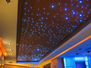 4X3W RGBW LED Fiber Optic Star Ceiling Panels Application