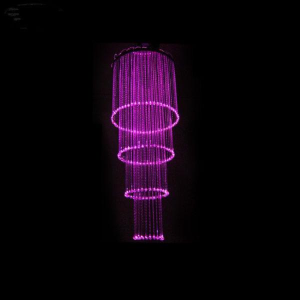 4 Rings Chandelier Fiber Optic Dia 0.6M 2M Long