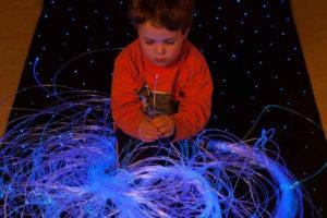 5W LED Sensory Lights Fibre optic for Babies 200 Strand 0.75mm Sparkle Fiber Optic 2.5M Long