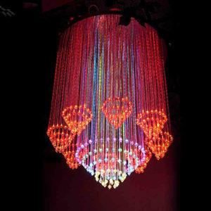 Circles Fiber Optic Crystal Chandelier DIA0.8M 0.8M Long