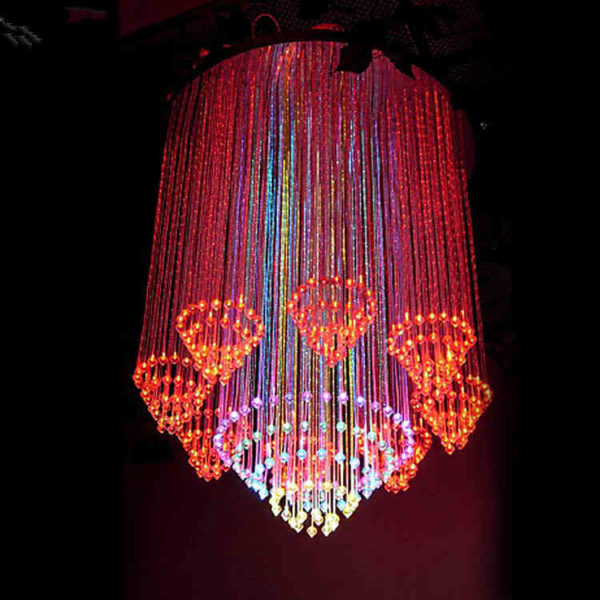Circles Fiber Optic Crystal Chandelier DIA0.8M 0.8M Long