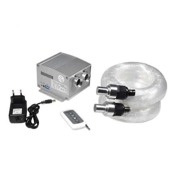 Dual 5W LED Fiber Optic Lighting Kit 420 Fiber Optic Strands