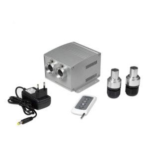 Dual 5 Watt LED Fiber Optic Generator for Night Sky Bedroom Ceiling
