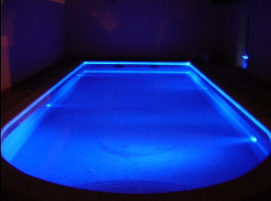 Solid Core Side Glow Fiber Optic Perimeter Pool Lighting Cables