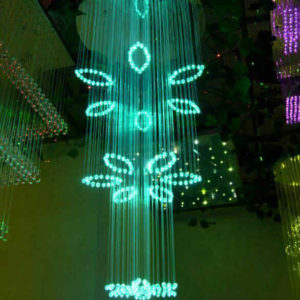 Flower Fiber Optic Light Chandelier DIA0.8M 2M Long