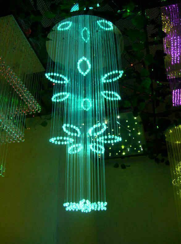 Flower Fiber Optic Light Chandelier DIA0.8M 2M Long