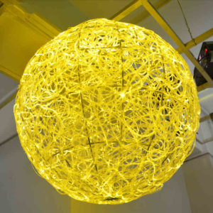 Moon Fiber Optic Light Chandelier DIA 0.6 Meter
