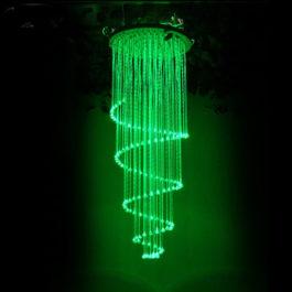 Single Spiral Fiber Optic Light Chandelier DIA0.6M 2M Long