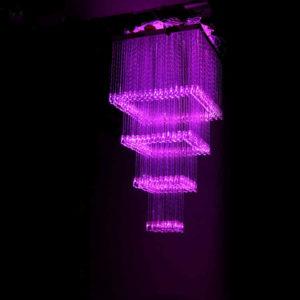 Square Fiber Optic Light Chandelier 0.6×0.6 Meter