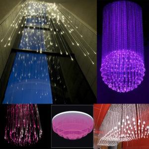 Crystal End Fittings for Fiber Optic Light Chandelier