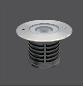 1x4W Recessed Round 116mm Warm White LED Decking Lights