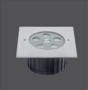 Recessed Stainless Steel 6x2W In Ground Pation Lights