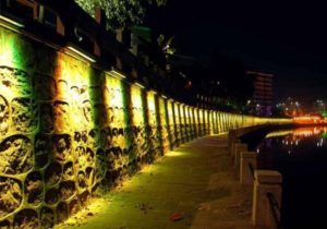 48/96W RGB LED Wall Wash Landscape Light Application