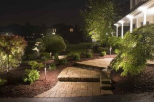 Brass Dia8xL21in Outside Low Voltage LED Walkway Lights Application